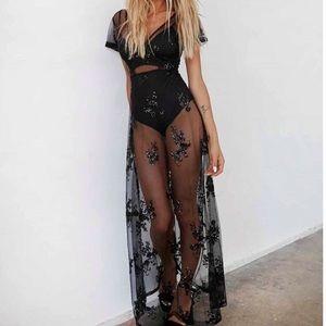 Tiger Mist Dresses - Black tiger mist heated dress black sequin size xs